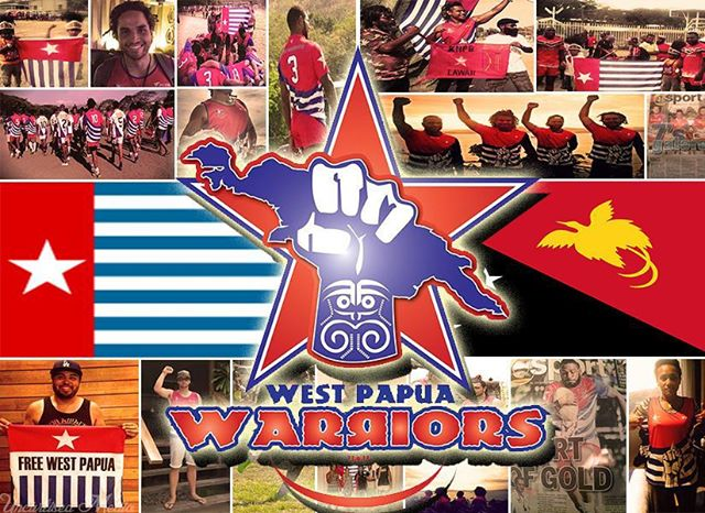 collage west papua warriors