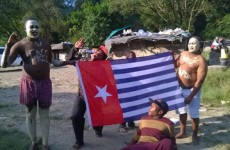 Free West Papua Campaign South Africa flag raising and Support West Papua Self-determination