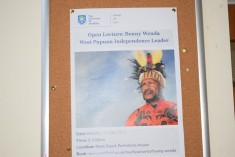 Benny Wenda gives a talk at Sheffield University Law School