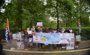 Free West Papua demonstration in London