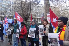 Protest against Indonesia violence and brutalities in Timika, outside of the Indonesian Embassy, London