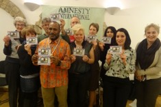 Benny Wenda gives a talk at Amnesty International Reading 2015