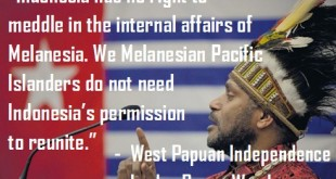 "Benny Wenda responds to the Indonesian government, ""West Papua will never be part of Indonesia."""