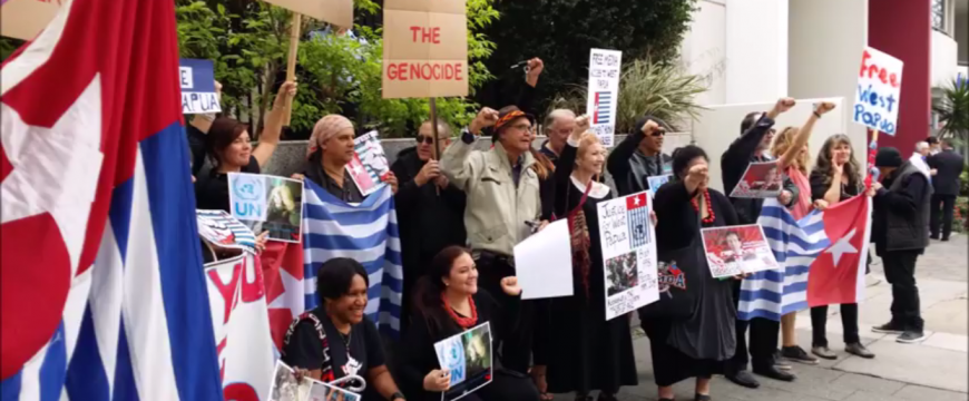 Free West Papua protest rally 04-29-2015