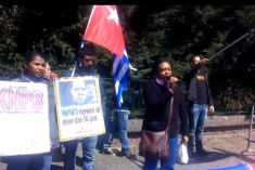 Free West Papua Campaign Netherlands demonstrate against the Indonesian annexation