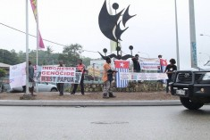 Gallery – Protests held in Port Moresby, Papua New Guinea at the arrival of the Indonesian President