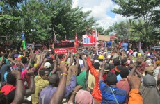 Photos from the pro MSG rallies and arrests in West Papua on 28th May