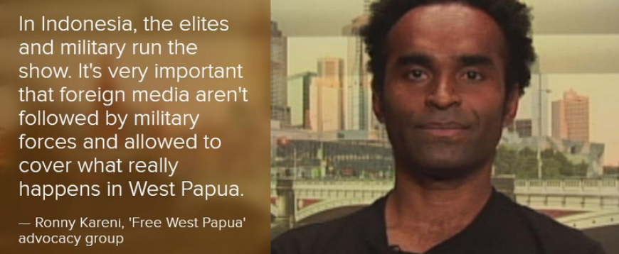 ABC News Australia interviewed West Papuan activist Ronny Kareni