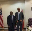 Prime Minsiter Akilisi Pohiva (Tonga) and ULMWP Secretary General  Octovianus Mote