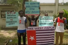Free West Papua protest in Nigeria