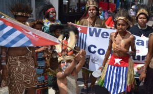 West Papuan's parade at Oxford Carnival